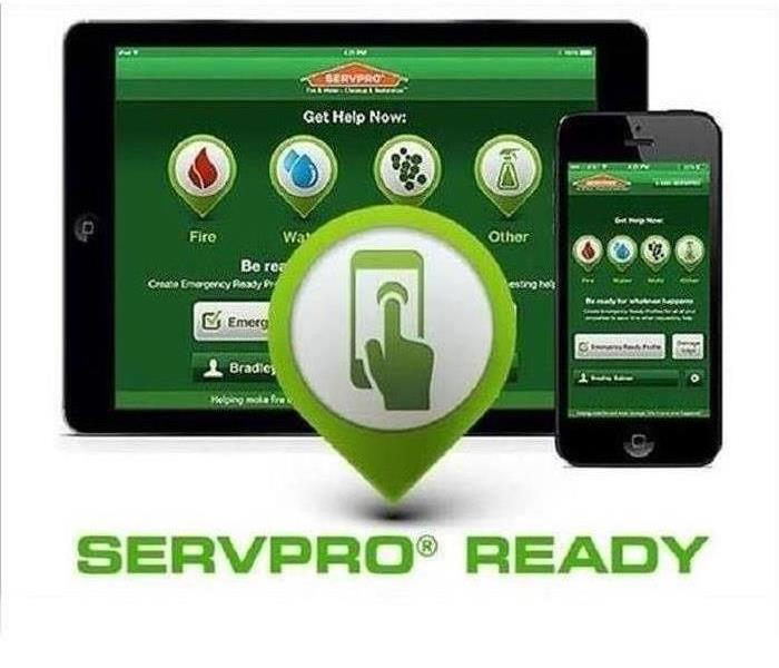 Tablet/cell phone displaying the SERVPRO® Emergency READY Profile® App